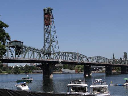 Hawthorne Street bridge on the Willamette River in  Portland,  Oregon