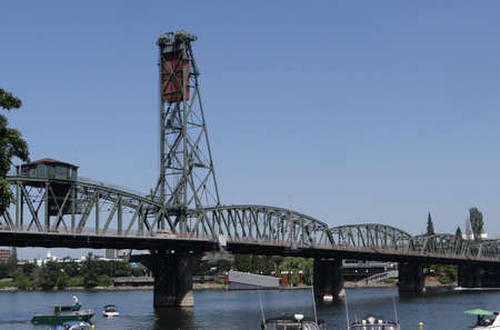 Hawthorne Street bridge on the Willamette River in  Portland,  Oregon