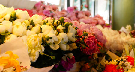 pike place: Flower bouquets for sale  at the Pike Place Public Market , Seattle