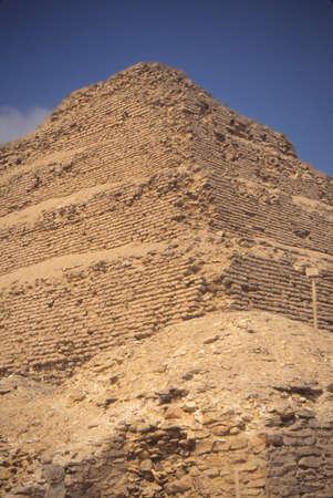 Step pyramid of Zoser, Saqqara, Egypt, Middle East