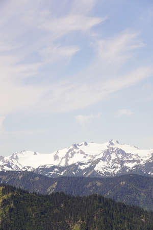 Mount Olympus and nearby peaks on a clear summer day in Olympic National Park, Washington Stock Photo