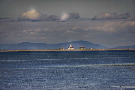 Strait of Juan de Fuca looking out towards Victoria, British Columbia from Port Angeles, Washington