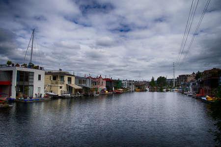 Woonboten op Lake Union in Seattle