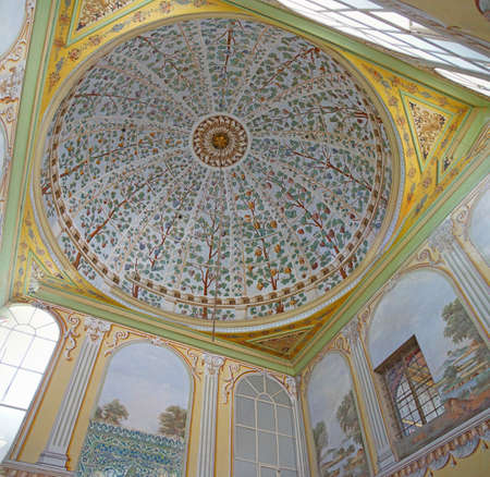 Dome of the Divan reception room in the harem  in Topkapi Palace,  in Istanbul, Turkey