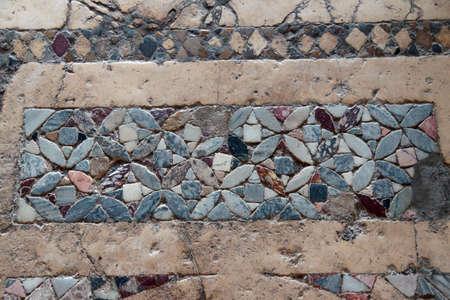 Byzantine mosaics on the floor of  St. Nicholas Church Demre,  Turkey