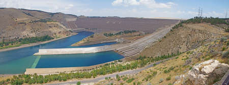 Ataturk dam on Euphrates River in southeastern  Turkey