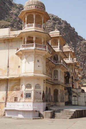 Shri Gayan Jopal Ji temple in the Galtaji temple complex, Jaipur, Rajasthan, India