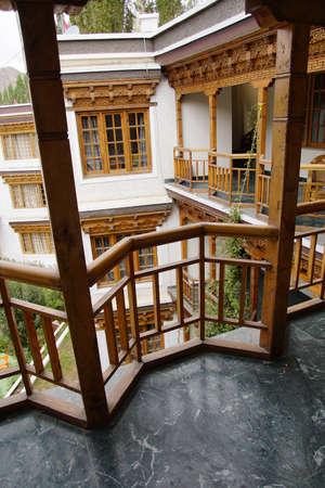 LEH, INDIA - SEP 11, 2017 - Front of Grand Willow Hotel, Leh, Ladakh, India