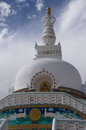 Shanti Stupa, donated  by Japanese in 1991, Leh, Ladakh, India