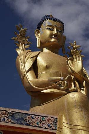 Sitting statue of Maitriya future Buddha,Liker Monastery, Ladakh, India