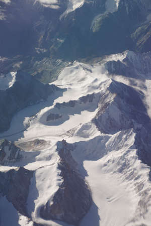 Aerial view of Himalayan mountains, India