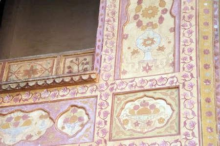 JAIPUR, INDIA - OCT 11, 2017 - Singh Pol Lion Gate of  Amber Fort near  Jaipur, Rajasthan, India