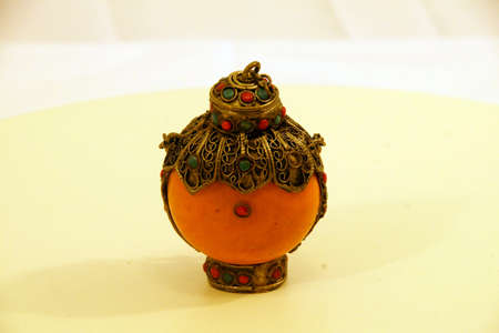 Chinese carved snuff bottle, personal collection, Seattle Banco de Imagens