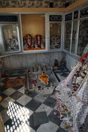 JAIPUR, INDIA - OCT 8, 2017 - Shiva lingam outside Govind Devji Temple,  Jaipur, Rajasthan, India Editorial