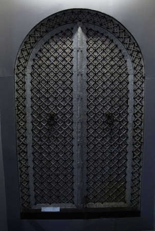PUNE, INDIA - OCT 2, 2017 - Large exterior doors,Raja Dinkar Kelkar Museum, Pune, India