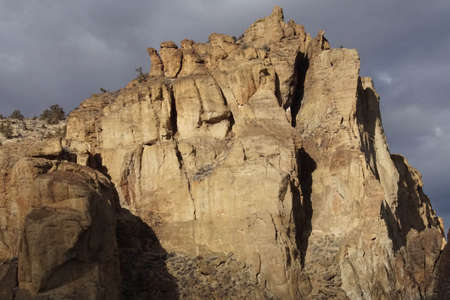 Late afternoon light on the welded tuft cliffs of Smith Rock State Park, Oregon