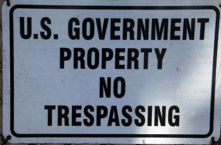 Sign - US Government Property - No Trespassing, San Diego, California
