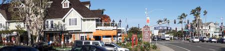 CARLSBAD, CALIFORNIA - DEC 4, 2017 - Beach resort in the coastal town of Carlsbad, California