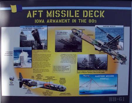 SAN PEDRO, CALIFORNIA - DEC 5, 2017 - Harpoon cruise missle launcher, USS Iowa BB-61, San Pedro, California Editorial