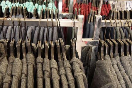 SAN DIEGO, CALIFORNIA - Pastel colored sweatshirt pullover hoodies in store Stock Photo