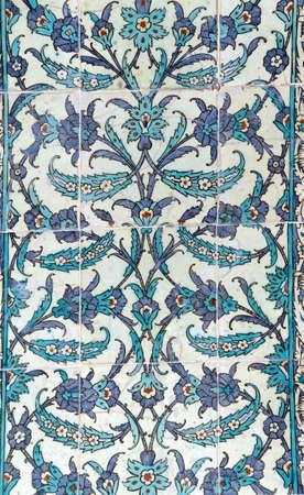 Elaborate Iznik mosaic tile