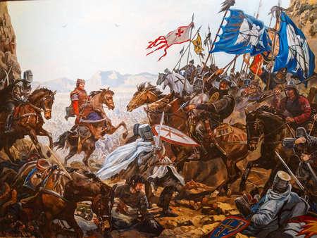 ミリオケファロンの戦い、1176 CEアスケリ軍事博物館(イスタンブール、トルコ)