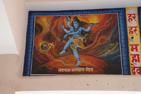 JAIPUR, INDIA - OCT 9, 2017 - nataraja, Shiva lord of the dance, bronze sculpture Khole Ke Hanuman Ji Temple,  Jaipur, Rajasthan, India
