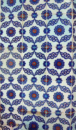 mosaics decorating the Rustem Pasha Mosque, in Istanbul, Turkey Imagens - 95829649