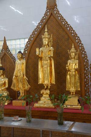 Golden Buddha statuesa, Shwedagon Pagoda Yangon (Rangoon),  Myanmar (Burma)