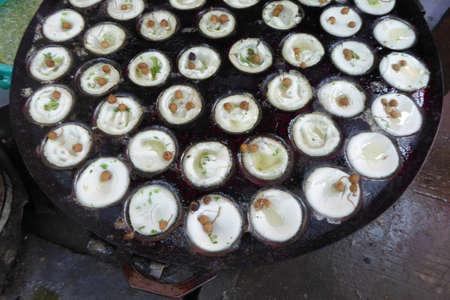 Lychee fruit dessert at street vendor  In  the central market of  Yangon (Rangoon),  Myanmar (Burma)