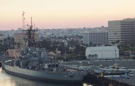 SAN PEDRO, CALIFORNIA - DEC 6, 2017 - Battleship USS Iowa BB-61, San Pedro, California
