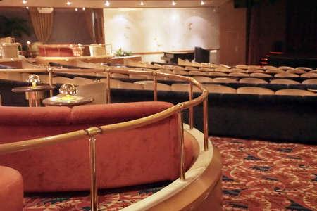 MONTE CARLO, MONACO - APR 22, 2018 - Auditorium of cruise ship anchored off Monte Carlo, Monaco