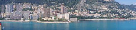 Coastal hills of Monte Carlo, Monaco Stock Photo