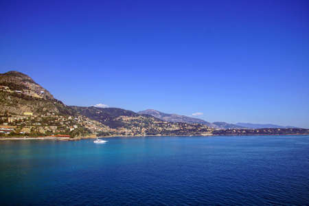 Coastal hills of Monte Carlo, Monaco Banco de Imagens