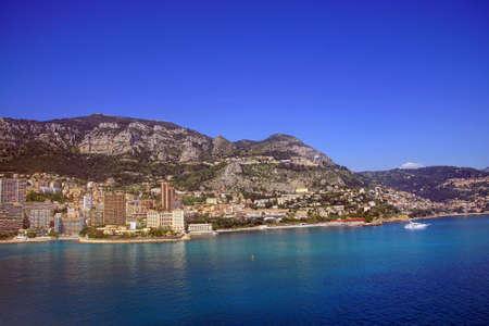Coastal hills of Monte Carlo, Monaco Stock fotó - 101554316