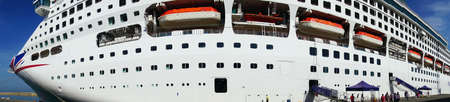 Cruise ship moored at Livorno, Italy