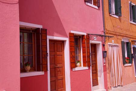 Brightly colored houses of Burano Venice, Italy Archivio Fotografico - 103085820