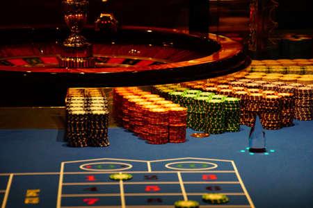 MEDITERRANEAN SEA - APR 13, 2018 - Roulette table in the casino on a cruise ship in the Mediterranean Sea Reklamní fotografie