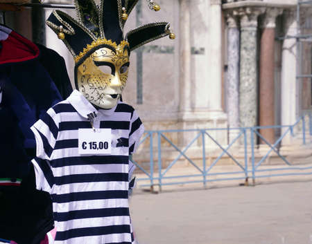 Carnival masks for tourists in Venice, Italy Stock Photo