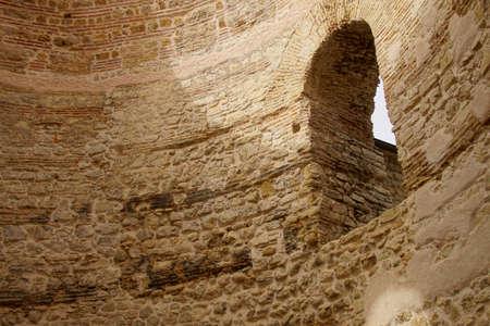 SPLIT, CROATIA - APR 15, 2018 - Roman brick arch in rotunda vestibule of Diocletians Palace, Split, Croatia Stock Photo