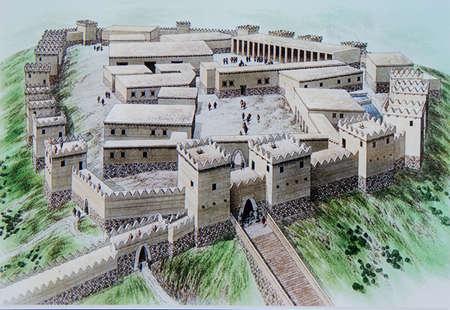 ANKARA, TURKEY - MAY 21, 2014 -  Reconstruction of Hittite capital of Hattusa, 12th century BCE,  Museum of Anatolian Civilization,  Ankara, Turkey