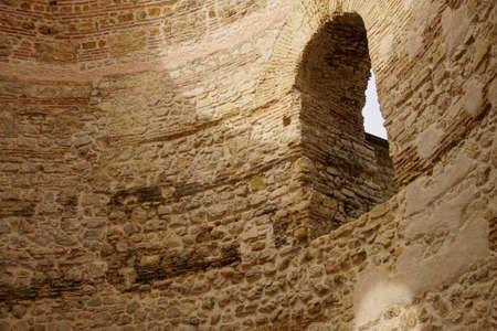 Roman brick arch in rotunda vestibule of Diocletians Palace, Split, Croatia Stock Photo