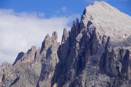 Pinnacles of the  Platkofel - Sasso Piato  in the  Dolomites Alps, Italy Editorial