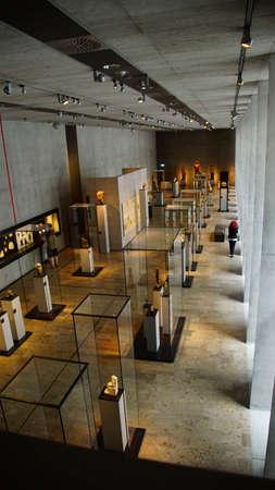 MUNICH - JUL 21, 2018 - Visitors explore the stunning new Egyptian Museum, Munich, Germany Editorial