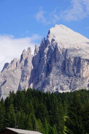 Pinnacles of the  Platkofel - Sasso Piato  in the  Dolomites Alps, Italy Stock Photo