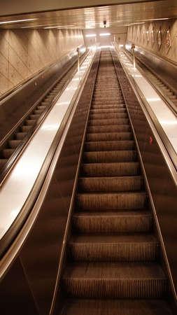 MUNICH - JUL 22, 2018 - Escalators of the U-bahn metro system in Munich, Germany Editorial