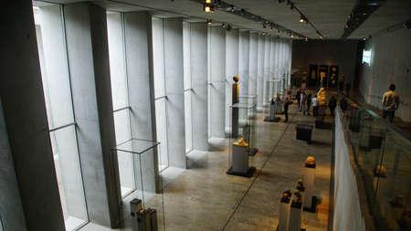 MUNICH - JUL 21, 2018 - Visitors explore the stunning new Egyptian Museum, Munich, Germany Redakční