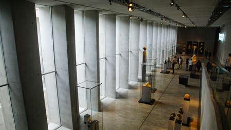 MUNICH - JUL 21, 2018 - Visitors explore the stunning new Egyptian Museum, Munich, Germany Redactioneel