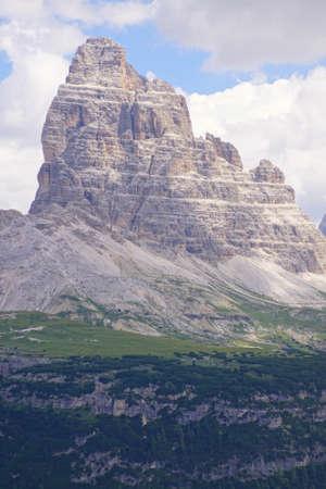 Pinnacles of the Drei Zinnen - Tre Cime di Laveredo peaks in the Dolomites Alps, Italy 写真素材