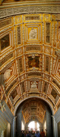 VENICE, ITALY - AUG 13, 2018 - The Golden Staircase in the Doges Palace in Venice, Italy